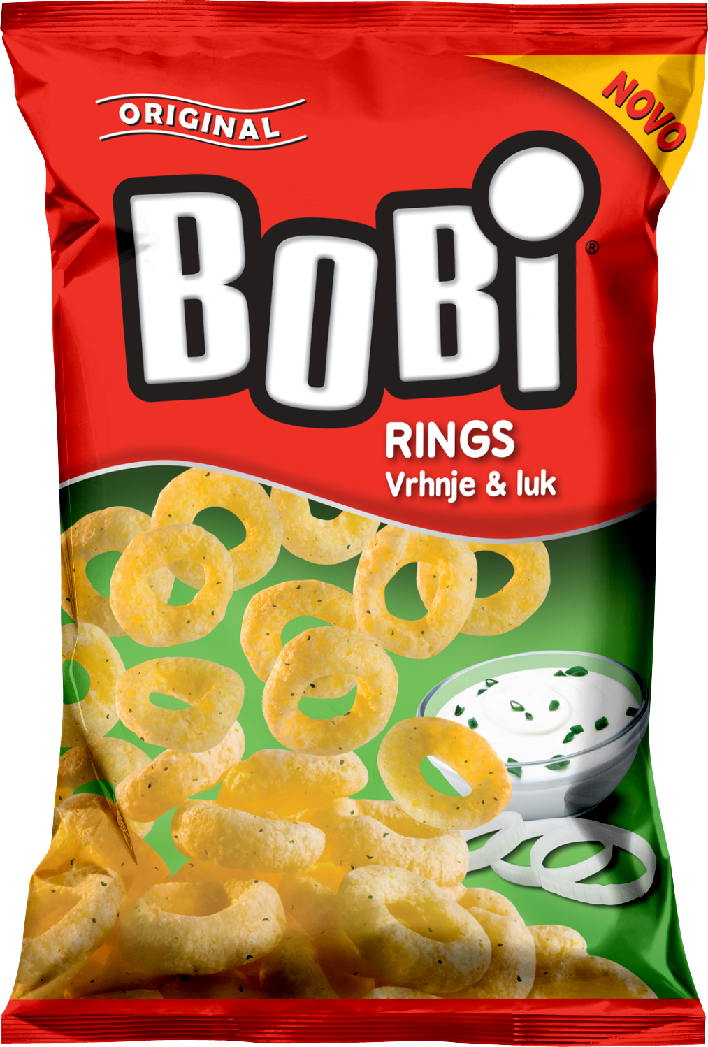 Bobi Rings Cream & Onion 70g